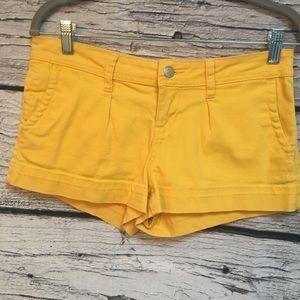 American Rag Yellow Short-Shorts. Size 3 Juniors.